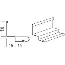 Пристенный молдинг Армстронг PRELUDE 3050x25x15x8x15 мм для плит с кромкой MicroLook