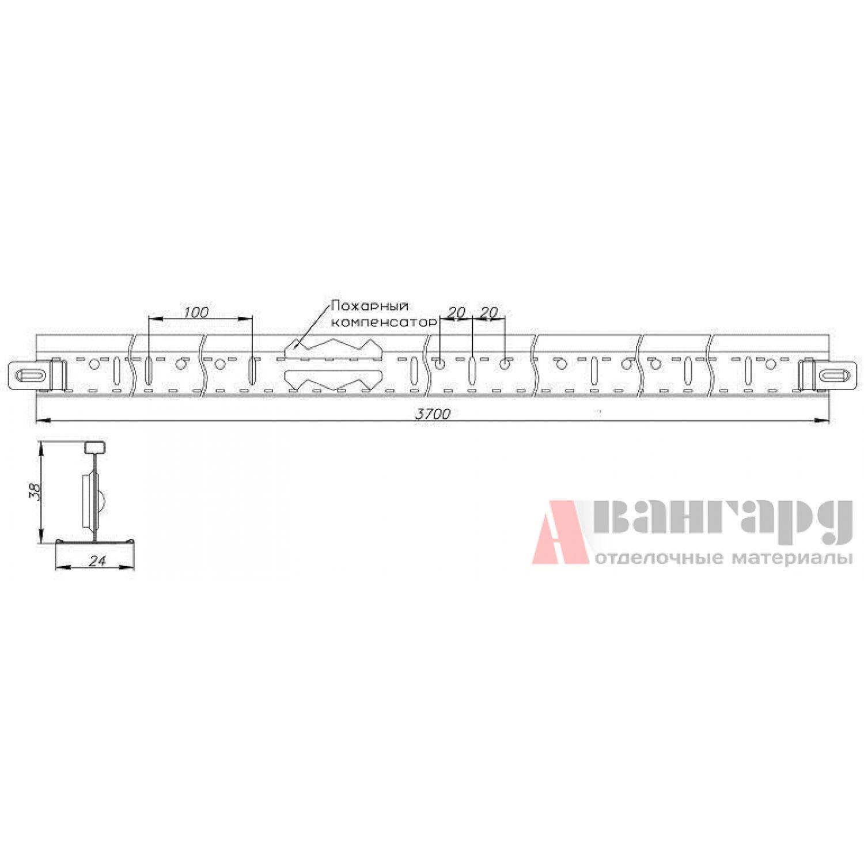 Подвесная система Т-24/29 ЕВРО белый матовый (оцинкованный)