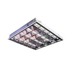 Встраиваемый светильник RVA 418 глянец с алюминиевым отражателем в Т-профиль